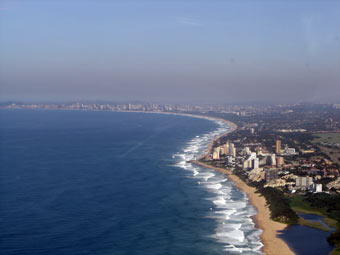 Durban Beach Front from the air